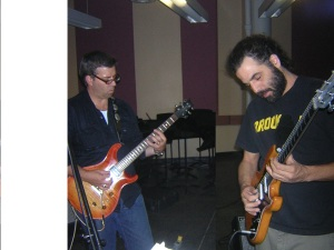Bruce and Jason playing the blues 9-18-2008