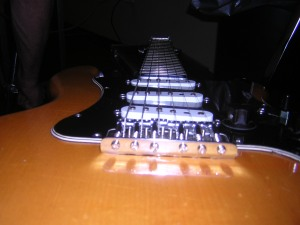 Jason's guitar at a rockin' angle.