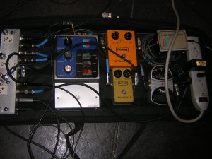 Butt-head's pedal board